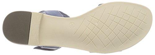 Marco Blue Tozzi Sandal Blue Low Strap Women's Denim Ankle Heel v71rpqvF