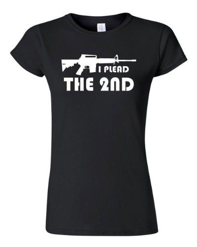 City Shirts Women's I Plead the 2nd Pro Gun Rights T-Shirt Tee