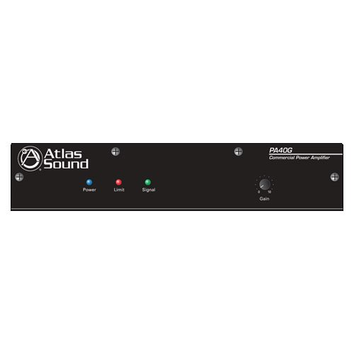 Atlas Sound PA40G 40W Single Channel Power Amplifier with Global Power - Single Atlas