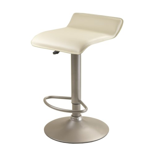 Winsome Airlift Stool with Beige PVC Seat