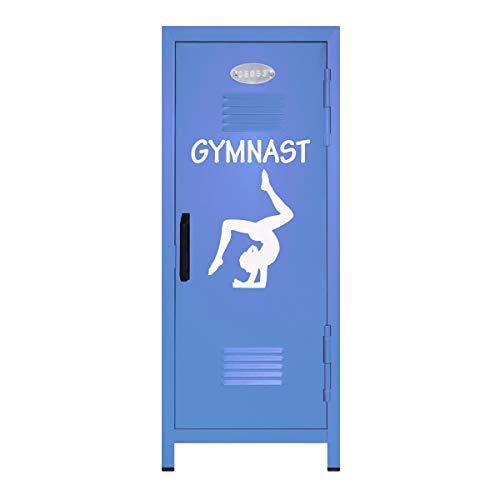Pastel Blue/White Gymnastics Mini Locker Gift - 10.75