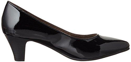 Softline Nero Patent Con 22466 Tacco Scarpe Donna 018 black rqHrO7Zw