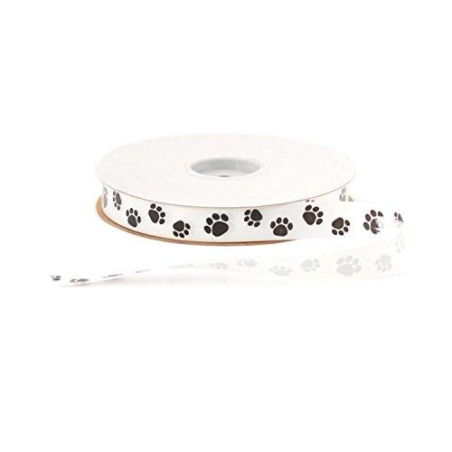 Dog Bone Ribbon - Berwick Offray Splendorette Print Paws 3/4