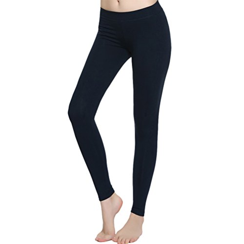 Zhhlinyuan Women's Fashion Deportes Yoga Running Fitness Quick dry Pants LWQ-0191 Navy blue
