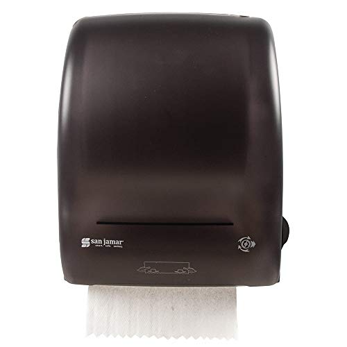 San Jamar T7400TBK Simplicity Hands Free Wall Towel Dispenser - Wide Roll, Black Pearl