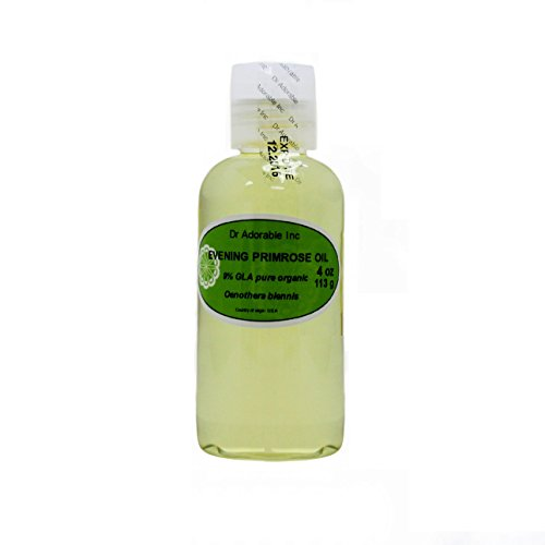 Oil Primrose Evening Hair (Organic Pure Carrier Oils Cold Pressed 4 oz (Evening Primrose Oil))