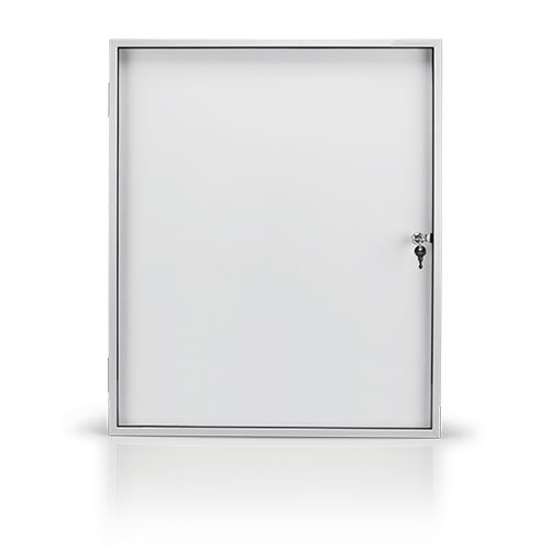 Magnetoplan Showcase SP 1 x Indoor Use A4 White/Aluminium / Grey by Magnetoplan