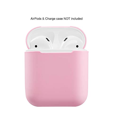 top4cus Environmental Silicone Surface Covering Protective Case for AirPods Charging Case (Pink)