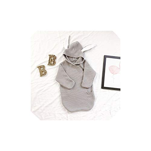 - Baby Blankets Envelope for Newborns Baby Covers Rabbit Ear Swaddling Baby Wrap Photography Newborn Baby Girl Clothes,Grey As Pic