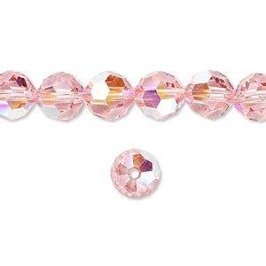 Swarovski Crystal 5000 8mm Light Rose AB (Pink) Faceted Round
