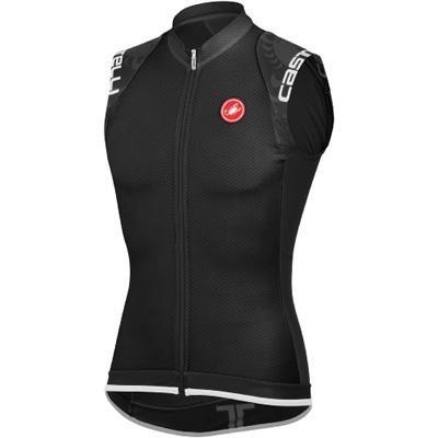 Castelli Entrata Full-Zip Jersey - Sleeveless - Men's Black, S (Sleeveless Zip Jersey Full)