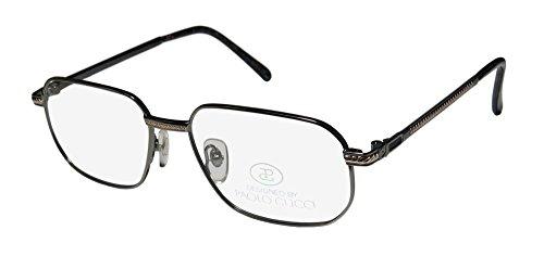 Paolo Gucci 8112 Mens/Womens Designer Full-rim Eyeglasses/Glasses (54-16-140, Gunmetal / - Frames Gucci Ophthalmic