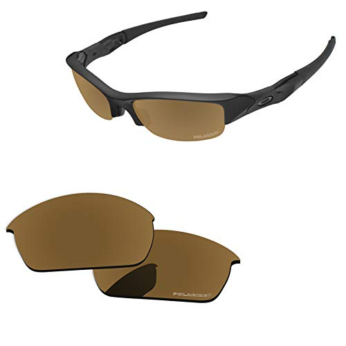 - PapaViva Lenses Replacement for Oakley Flak Jacket Bronze Golden - Polarized