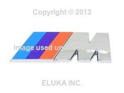BMW Genuine Rear Emblem - M for Trunk Lid for 318i 318is 318ti 320i 323i 325i 325is 328i M3 M3 3.2 Z3 1.9 Z3 2.5 Z3 2.5i Z3 2.8 Z3 3.0i Z3 M3.2 (M Power Grill Emblem)