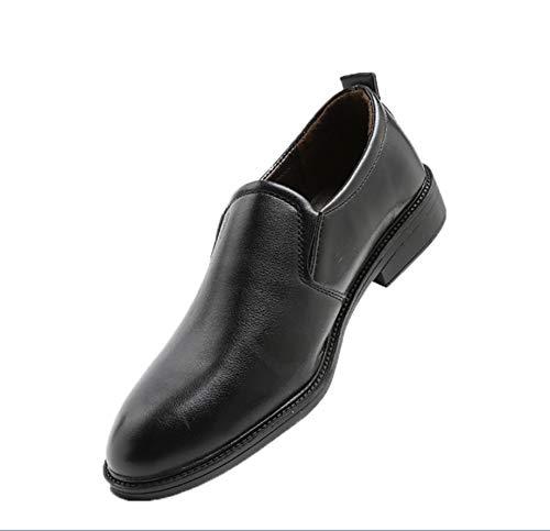 戦艦解決する深めるメンズレザーシューズはビジネス英国弾性ベルト通気性靴を手助けするために低い