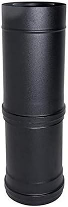 Elemento telescopico canna fumaria tubo coassiale NERO D 80//130 300//600 mm CE in acciaio 316 per stufa pellet Made in Italy UNI 1856//2