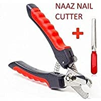 PSK Professional Dog Nail Cutter |Best for : Small, Medium, Large Dogs & Cats Claw & Nails Clippers Grinder Trimmer Heavy Durability (Red - Black)