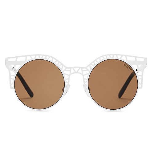 Quay Australia FLEUR Women's Sunglasses Cutout Metal Cat Eye Frame - - Glass Australia Frames