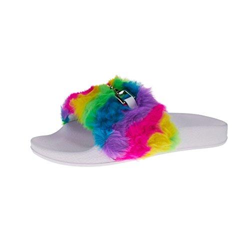 London à femme Footwear Ouvertes Multicolore l'arrière UqwUrOC