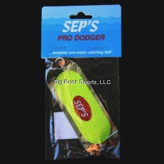 Sep's Pro Fishing Dodger, 4/0, Silver by Sep's Pro Fishing