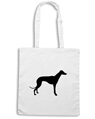 24 DIFFERENT Borsa FOR GREYHOUND LISTED Shopper DOG COLOURS IN Bianca CHARITY ANY SILHOUETTE Shirt Speed WES0615 IN Zw75PP
