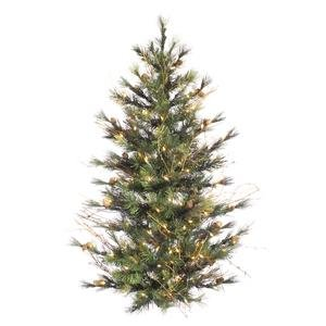 3 ft. PVC Christmas Tree - Green - Mixed Country Pine - 166 Tips - Unlit - Vickerman A801892-Wall - Country Pine Tree Mixed