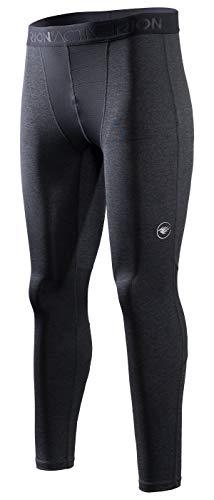 [해외]RION 액티브 남성용 운동 압박 쿨 드라이 베이스 레이어 타이츠 / RION Active Men`s Workout Compression Cool Dry Baselayer Tights Grey