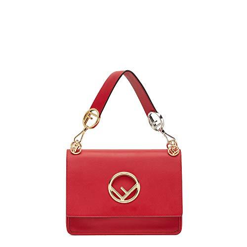 Red Fendi Bag (kimi-Fendi Women's Medium Multicolor KAN I F fashion Shoulder Bag for women in new style (red))