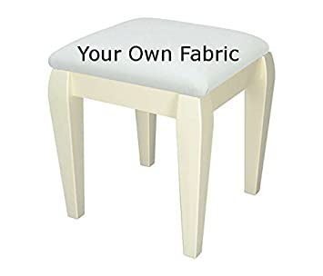 Fine Cream Small Bedroom Dressing Table Stool With Classic Legs Upholstered In Your Own Fabric Spiritservingveterans Wood Chair Design Ideas Spiritservingveteransorg