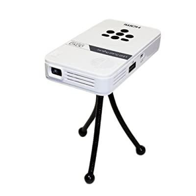 AAXA Technologies KP-101-01 AAXA LED Pico Micro Video Projector - Pocket Size Portable Mobile Mini Projector with mini-HDMI, built-in Media Player & Speakers, 3.5mm Aux Out, Micro SD/USB readers and 80 Min Lithium-Ion Battery