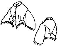 1800s Day Bodice Pattern, Size X Large 24-28 ()