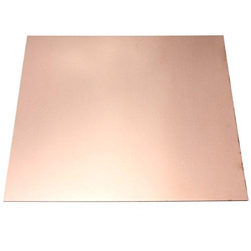 FEVERWORK 0.8mm*100mm*100mm Pure Copper Cu Metal Sheet Plate