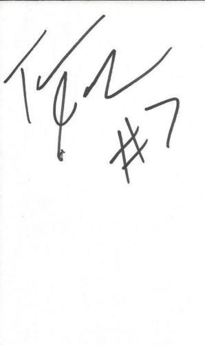 Tarvaris Jackson Signed 3x5 Index Card Seahawks Bills
