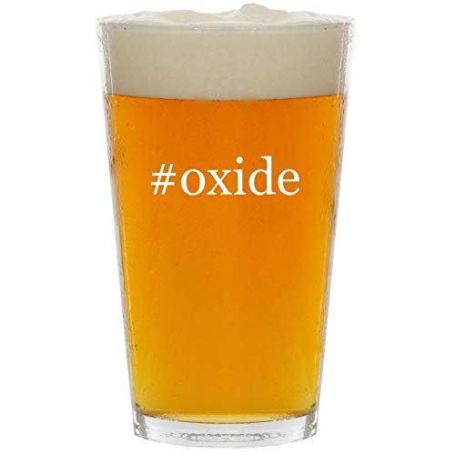 (#oxide - Glass Hashtag 16oz Beer Pint)