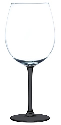 Libbey 9403RL XXL line by Royal Leerdam 21.75 oz. Wine Glass Single - Bottom Color Black - Additional Vibrant Colors Available by TableTop King