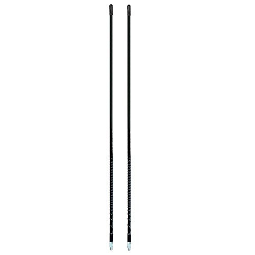 LOT OF 2 ARIES 10801 2` Foot Fiberglass 500 Watt CB Radio Antenna (BLACK) (Antenna 2 Cb Foot)