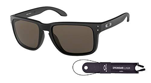 Oakley Holbrook XL OO9417 941701 59M Matte Black/Warm Grey Sunglasses For Men+BUNDLE with Oakley Accessory Leash Kit