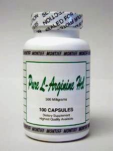 Montiff - Pure L-Arginine HCl 500 mg 100 caps