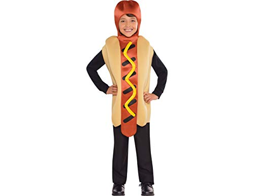 Amscan Child Hot Diggity Hot Dog Costume, Standard, Multicolor