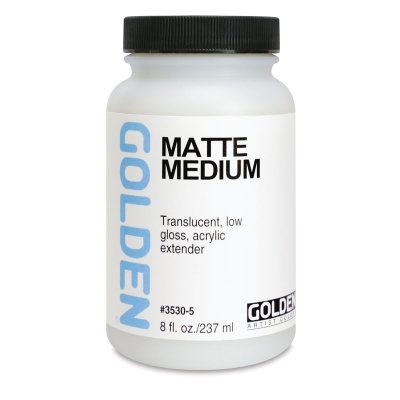 Golden Acrylic Matte Medium - 128 oz Jar by Golden Artist Colors