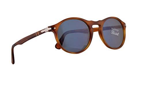 (Persol 3204-S Sunglasses Terra Di Siena w/Light Blue Lens 54mm 9656 PO 3204S PO3204S PO3204-S)