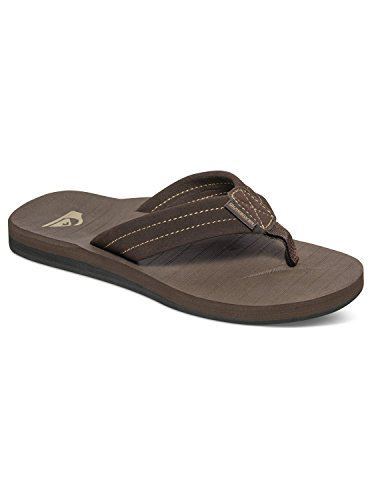 Quiksilver Carver Suede Youth Sandal (Toddler/Little Kid/Big Kid), Demitasse Solid, 5 M US Big - North Leather Beach