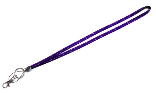 Candy Purple Crystal Rhinstone Lanyard Sparkles! Gift for Registered Nurse, Teachers, Graduate, Anyone Who Wears Id or Casual Wear