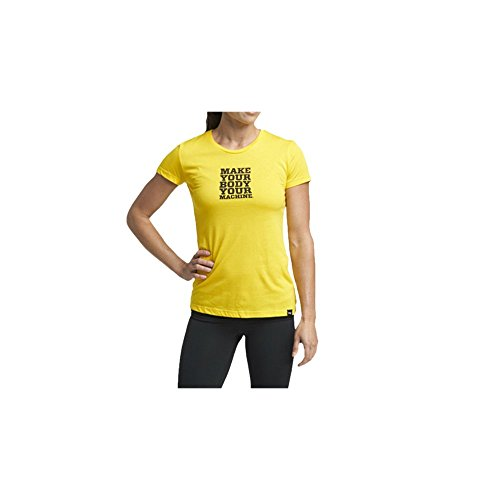 "TRX Training - TRX ""Make Your Body Your Machine"" Women's T-Shirt, Soft, Durable Cotton-Modal Blend, Yellow (X-Small)"