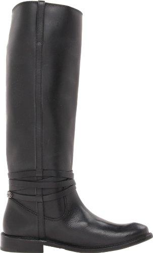 FRYE Botas de Shirley placa de equitación para mujer Black Stone Wash