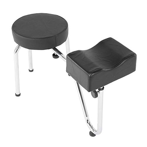 Pedicure Stool, Height Adjustable Footrest Manicure Stool Chair Leg Rest Stand with Soft Sponge PU Leather Pad for Spa Beauty Salon Studio Equipment Supplies
