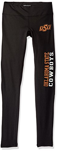 NCAA Primetime Women's Full-Length Active Lifestyle Pant,Oklahoma State Cowboys,Black,X-Large