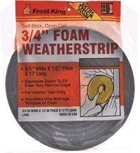 Poly Foam Insulation (Foam Tape,Poly 3/8x1/4x17' Brn)