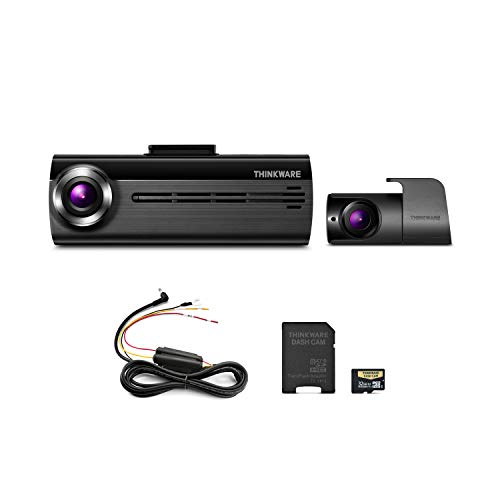 THINKWARE FA200 Dash Cam Bundle with Front & Rear Cam, Hardwiring Cable, 32GB MicroSD Card Included, Built-in WiFi, Time Lapse (Best Irc App For Android)