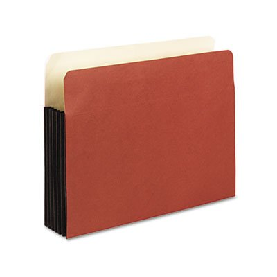 Watershed 5 1/4 Inch Expansion File Pockets, Straight Cut, Letter, Redrope, Total 50 EA